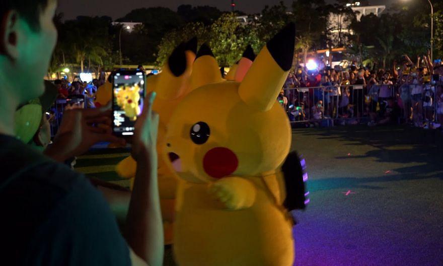 Pokemon Go Safari Zone Pikachu Parade Dance on April 19, 2019