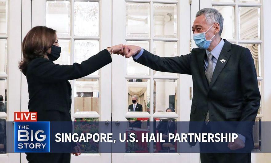 PM Lee Hsien Loong, US V-P Kamala Harris hail robust Singapore-US partnership   THE BIG STORY