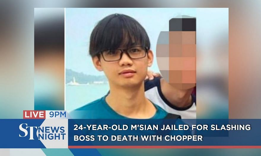 24-year-old M'sian jailed for slashing boss to death with chopper | ST NEWS NIGHT