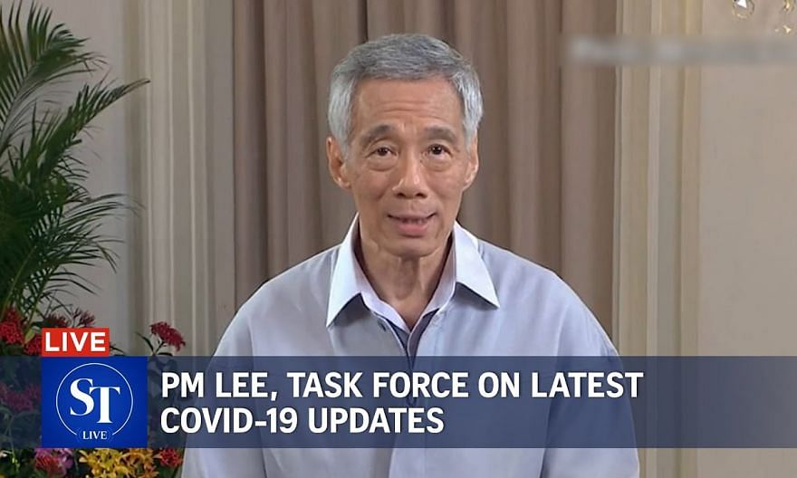 [LIVE]  PM Lee to address nation on latest Covid-19 measures | ST LIVE