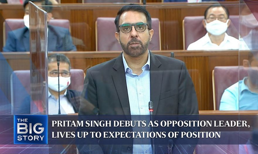 Pritam Singh debuts as Opposition Leader, lives up to expectations of position   THE BIG STORY