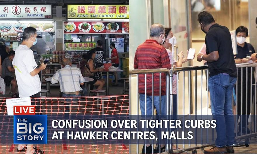 Confusion over tighter Covid-19 rules at hawker centres, malls | THE BIG STORY