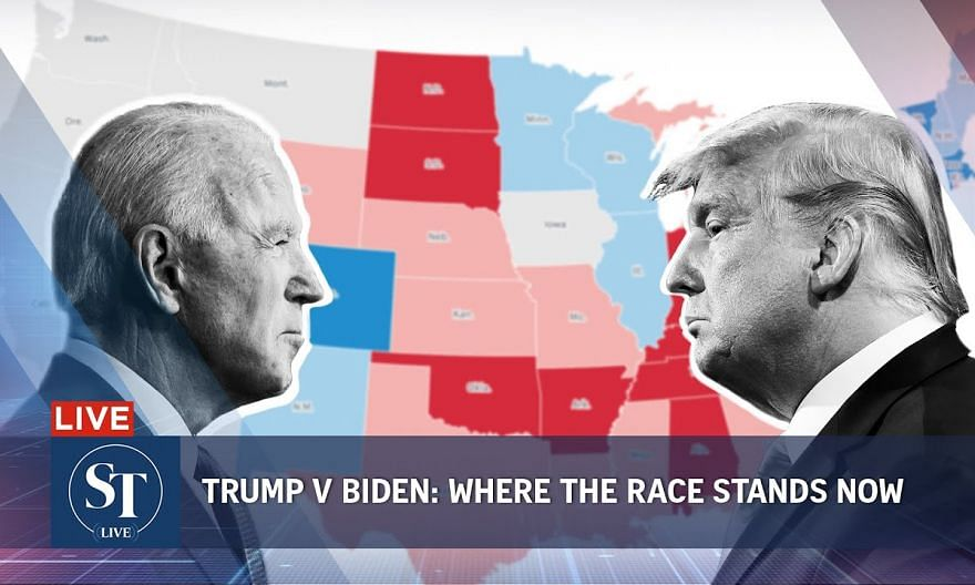 Trump v Biden: Where the race stands now | US Election 2020 | ST LIVE
