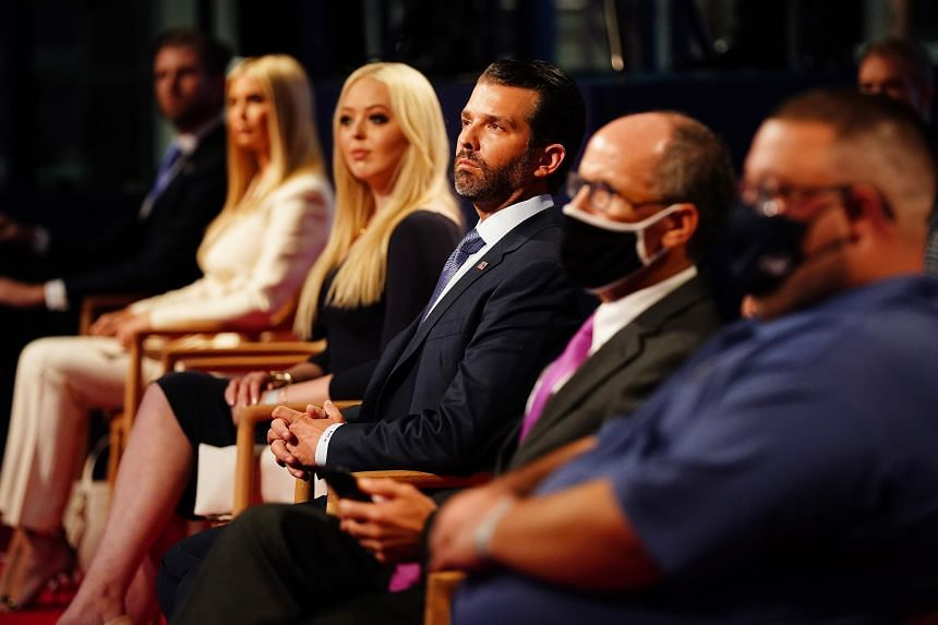 Trump family and entourage not wearing masks during President's debate with  Democratic rival Joe Biden » Global Asset Management Seoul Korea