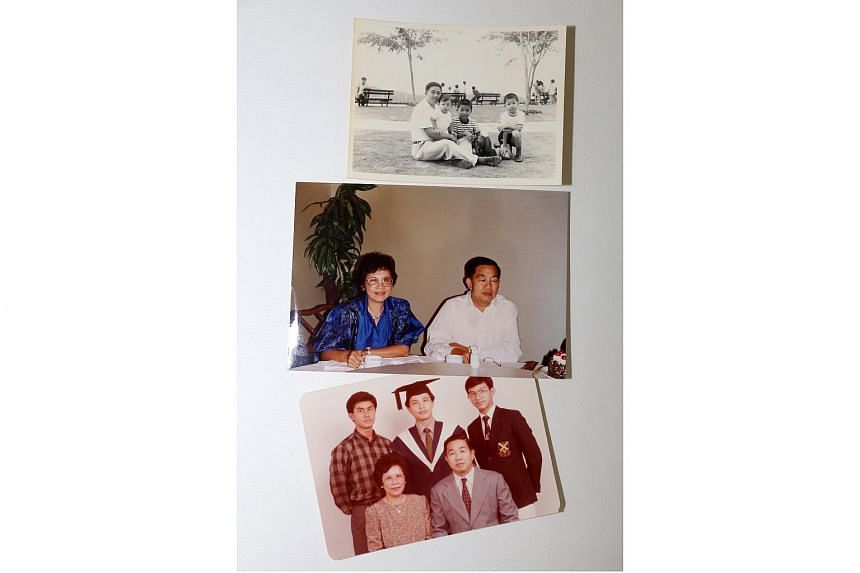 Photos of the late Mr Ong Peck Lye and his family.