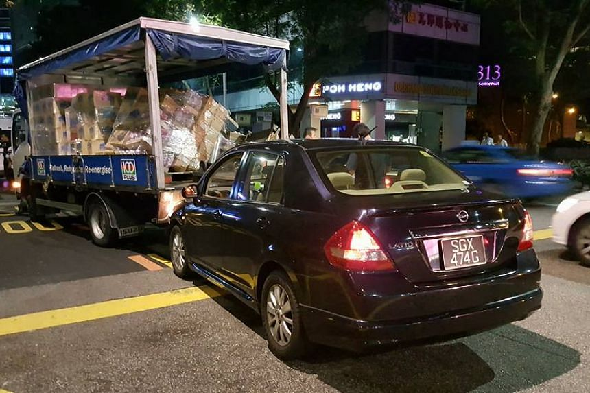 The 28-year-old woman was arrested for motor vehicle theft after taking a lorry for a joy ride along Orchard Road.
