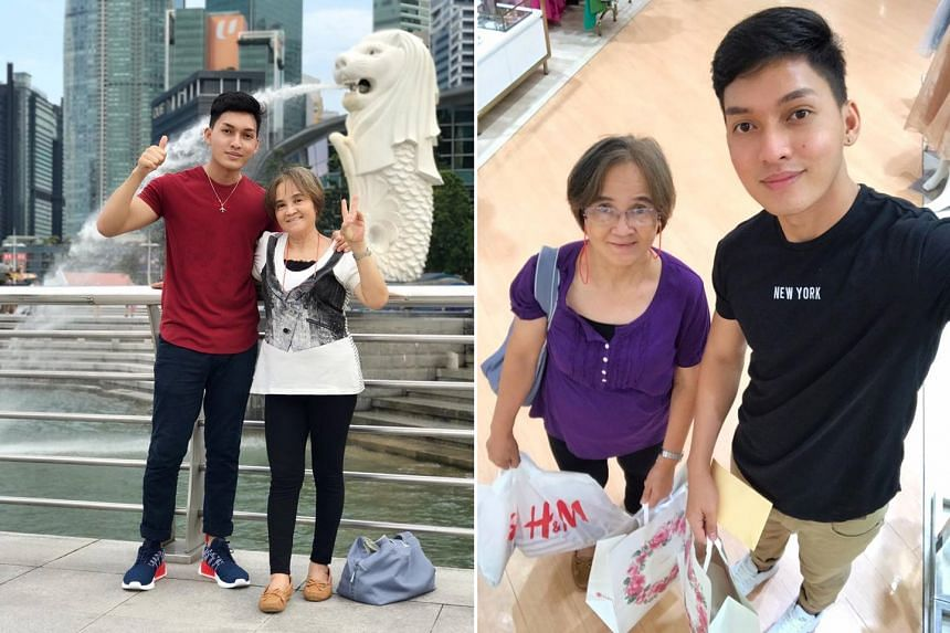 Mr Alcanzare took his mother on a tour of Asia to reward her for her 20 years of hard work as a domestic worker in Hong Kong.