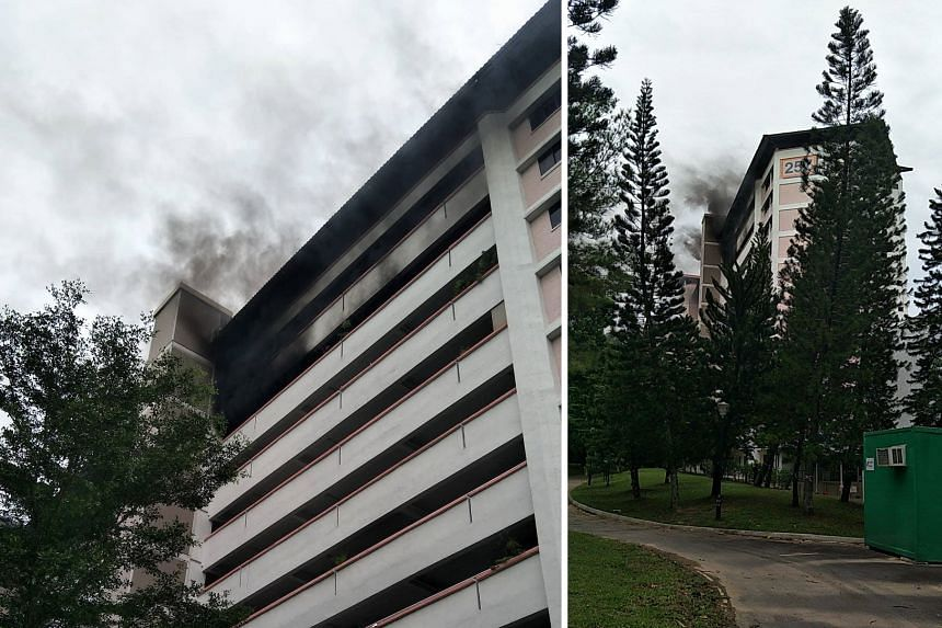 About 40 people were evacuated after a fire broke out in a bedroom of a 10th floor unit.
