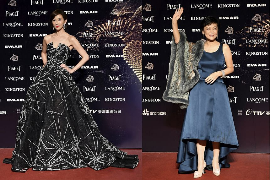 Gwei Lun-mei: The Taiwanese star makes a bold choice, wearing an unusual dress with a voluminous pannier by exiting Christian Dior designer Raf Simons. Unfortunately, she also looks like she is packing a bench underneath her gown. Sylvia Chang: Kudos