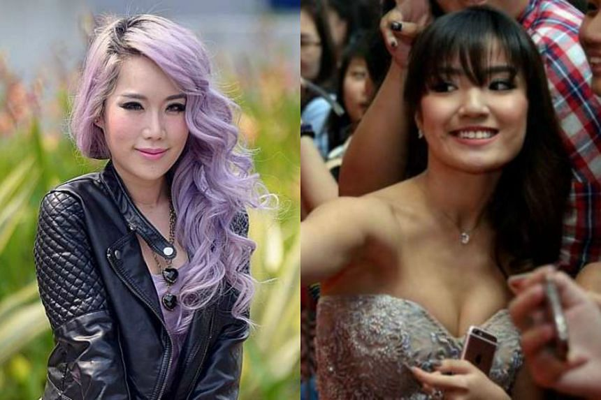 Popular bloggers Wendy Cheng (left) and Naomi Neo.