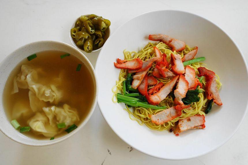 Wonton noodles from Nam Seng Noodles & Fried Rice.