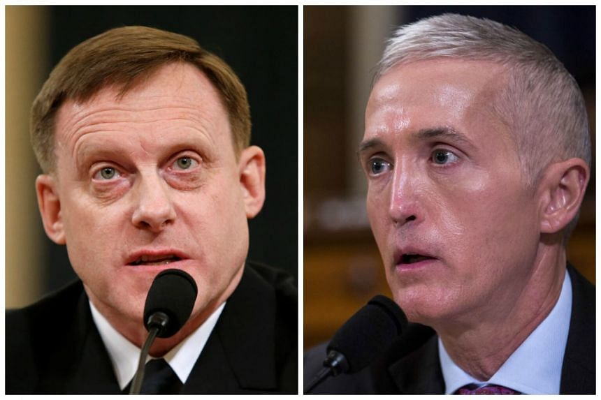 Former Republican congressman Mike Rogers (left) and South Carolina Republican Representative Trey Gowdy (right) are among the names in the shortlist to replace sacked FBI chief James Comey.