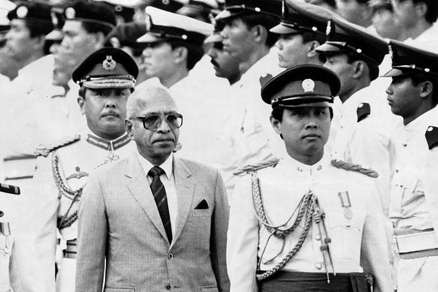 Singapore's previous minority-race presidents included Dr Benjamin Sheares and Mr Devan Nair (above, in suit and tie). Mr Nair is seen here with then Major-General Winston Choo behind him, inspecting the Guard of Honour during a National Day Parade