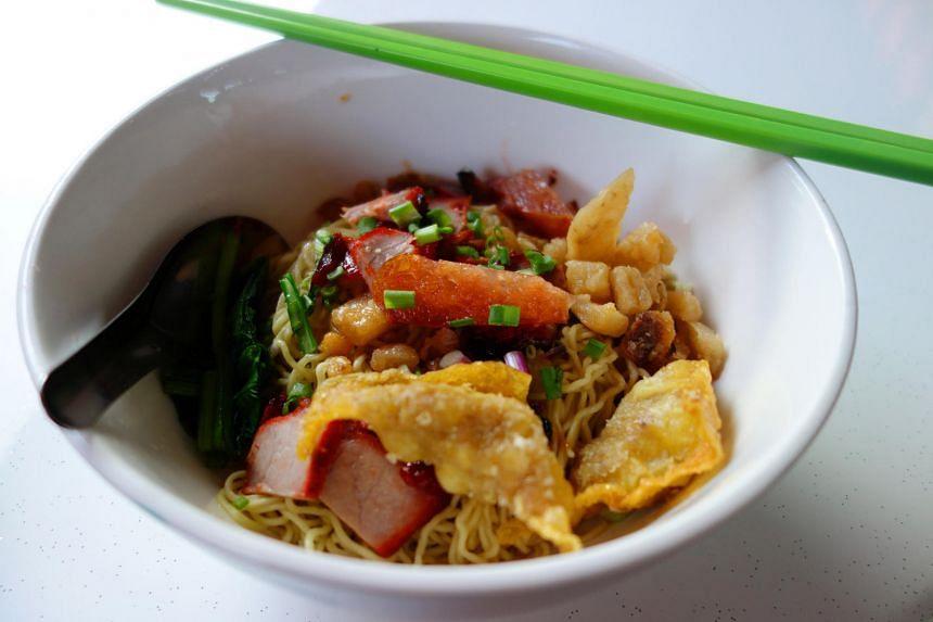 Thai-style wonton noodles from Soi 19 Thai Wanton Mee.