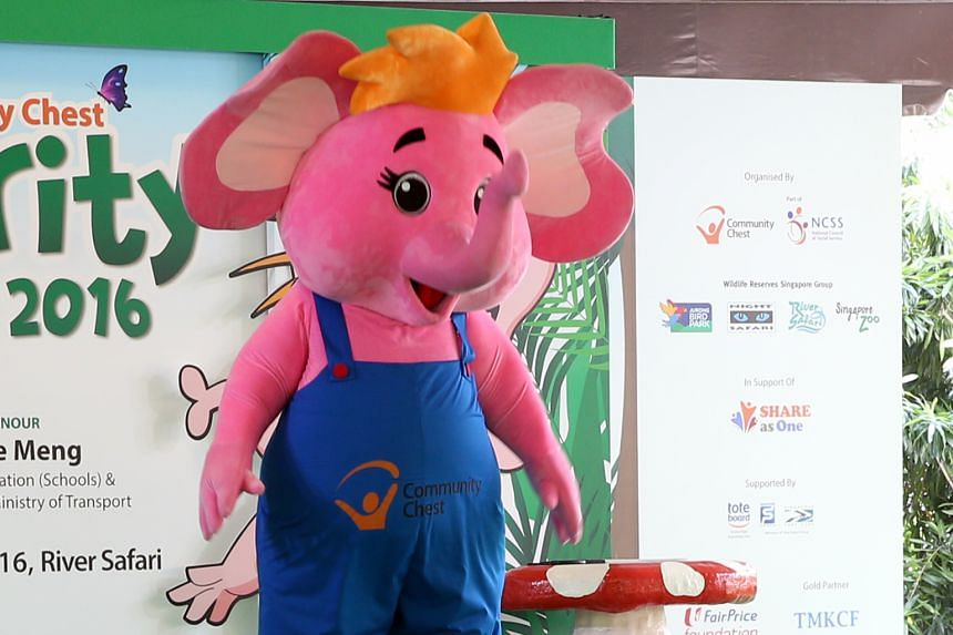 Sharity, Community Chest's pink elephant ambassador, has made a comeback to encourage students to be more compassionate, by performing good deeds at home, in school and the community.