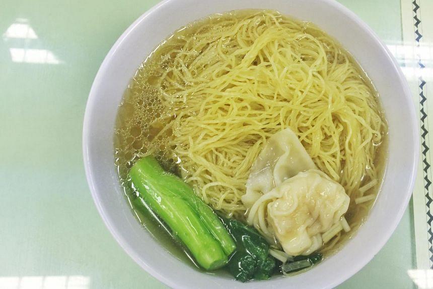 Wonton noodles from Legendary Hong Kong at Jurong Point 2 Shopping Centre.