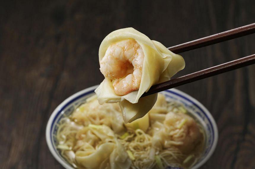 Wonton noodles from Mak's Noodle.