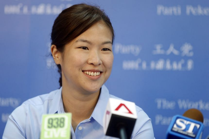 He Ting Ru at the Workers' Party headquarters on Aug 28, 2015.