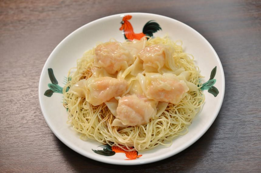 Prawn Wonton Dry Noodle from Hong Kong Wonton Noodle at Plaza Singapura.