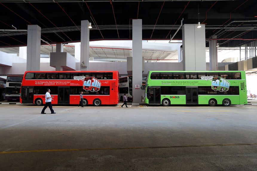 The new livery for public buses under the Government contracting model will be unveiled today at a bus carnival at Ngee Ann City Civic Plaza.