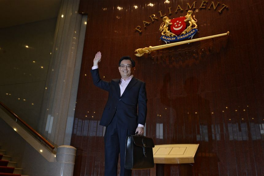 Minister for Finance, Mr Heng Swee Keat, arrives at the Parliament House on March 24, 2016.