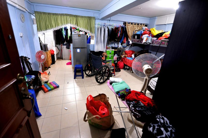 Inside the flat where Daniel lived with his mother and her boyfriend.