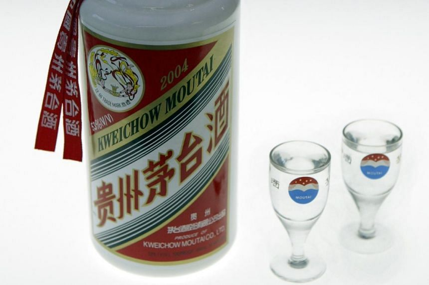 Maotai, a type of Chinese wine made by Kweichow Moutai Distillery Group.