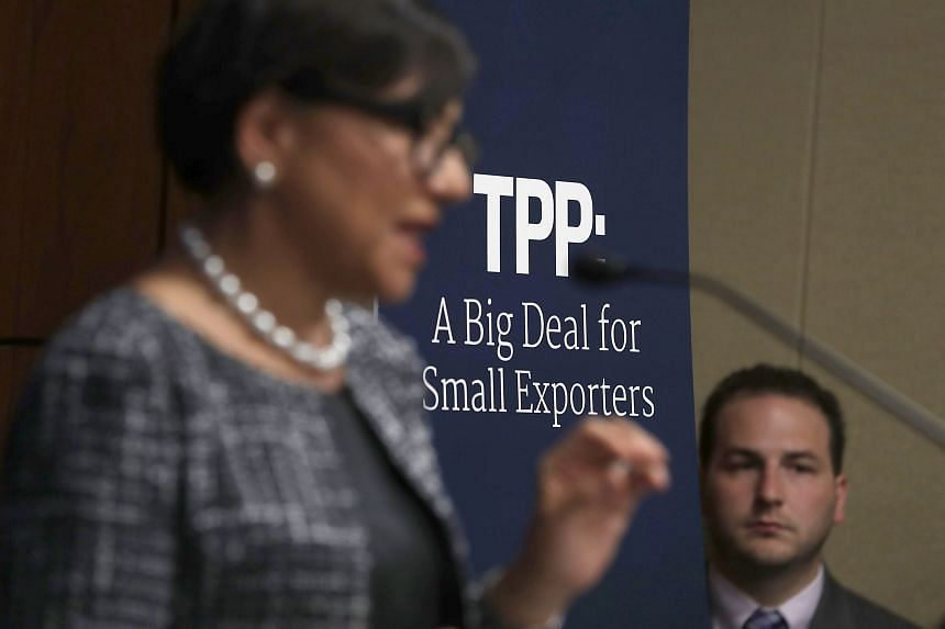 US Secretary of Commerce Penny Pritzker during a discussion on the Trans-Pacific Partnership on Sept 26, 2016 in Washington, DC.