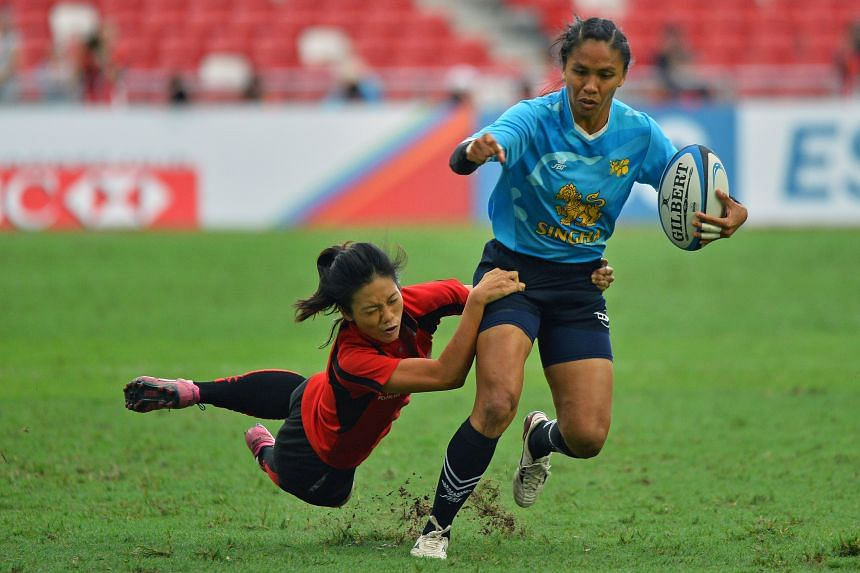 Singapore's women's team lost 42-0 to Thailand in the SEA 7s final.
