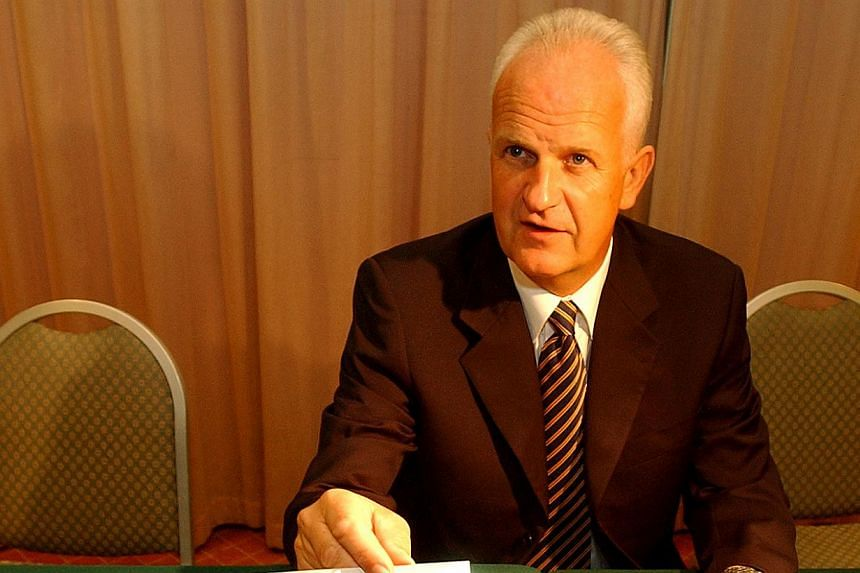 After five months without a coach, the Singapore national football team is set to be trained by 65-year-old German Bernd Stange (above), who will be unveiled by the Football Association of Singapore (FAS) at Jalan Besar Stadium on Wednesday, May 15,