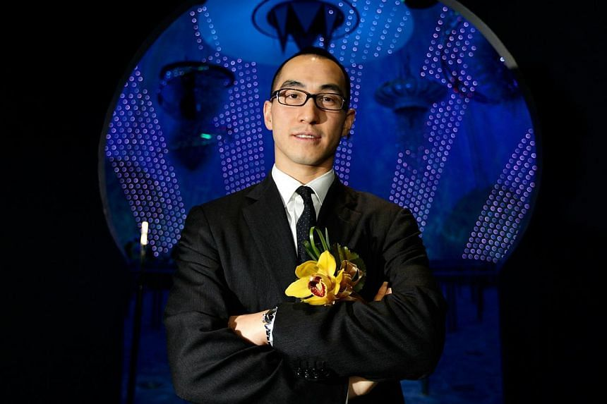 Lawrence Ho, chairman of Melco Crown Entertainment Ltd., poses for a portrait in Macau, China, on Tuesday, April 14, 2009. Macau gambling magnate Lawrence Ho is set to extend his global reach after two of his companies entered into an agreement to bu
