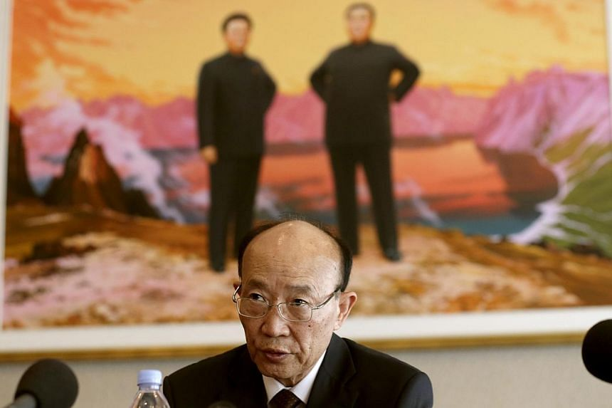 North Korea Ambassador to the United Nations So Se Pyong addresses a news conference at the Permanent Mission of North Korea in Geneva on July 10, 2013. North Korea said on Wednesday that it would not give up its nuclear deterrent until the United St