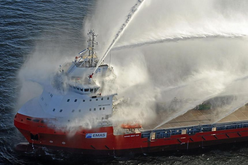 One of Ezra Holdings' newest Platform Supply Vessels, the Lewek Andes, seen here during its sea trials. Offshore services group Ezra Holdings has posted a 68 per cent decline in net profit for the three months ended May 31 over the same quarter a y