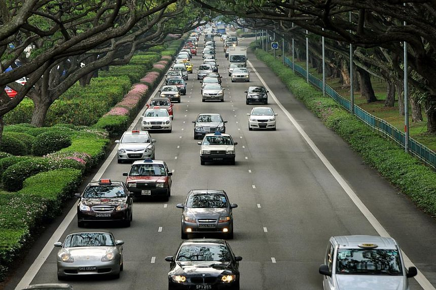 Evening traffic along East Coast Park. The Monetary Authority of Singapore (MAS) has asked motor insurers to re-examine the way they treat older drivers, following mounting complaints from them of higher premiums and being denied cover when they cros