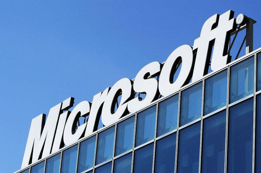 The Microsoft logo is seen at their offices in Bucharest in this March 20, 2013 file photo. Microsoft Corp worked closely with United States (US) intelligence services to help them intercept users' communications, including letting the National Secur