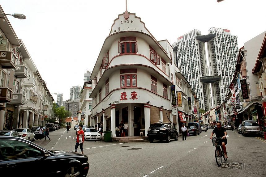 (Above) Tong Ah Eating House is moving from its current location to a new address, at 35, Keong Saik Road. (Below) Coffee shop owner Tang Chew Fue, 50, says the atmosphere at the new place will not be the same.