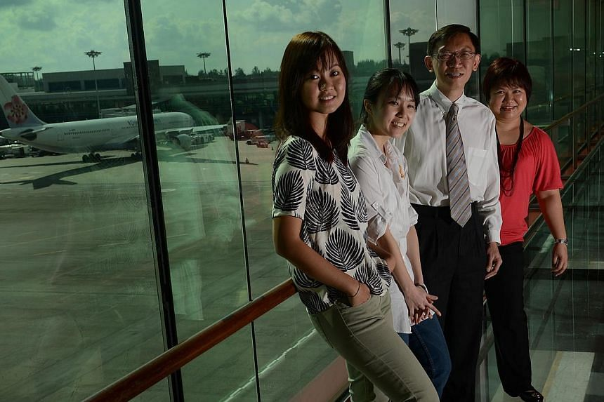 Senior vice-president (engineering and development) Koh Ming Sue with engineers (from left) Yong Swee Ying, Teoh Yan Lian and Elsie Tan. The airport aims to capitalise on growth in the Asia-Pacific region.