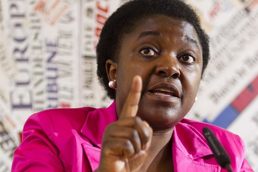 The Italian police on Monday were investigating far-right militants suspected of hanging nooses to protest Italy's first black minister Cecile Kyenge (above), two days after a senator compared her to an orangutan. -- FILE PHOTO: AP