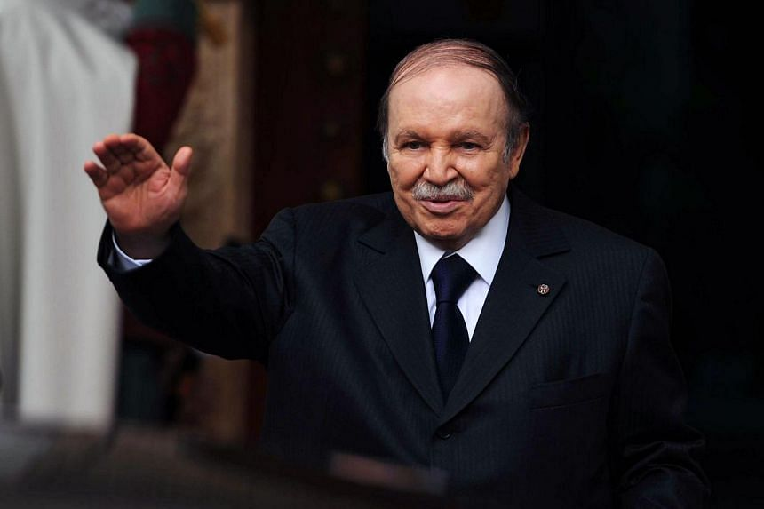 Algerian President Abdelaziz Bouteflika (above) headed home from Paris on Tuesday, July 16, 2013, more than two months after a mini-stroke saw him flown urgently to a hospital in the French capital. -- FILE PHOTO: AFP