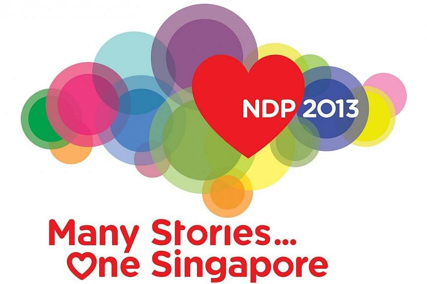 The National Day Parade (NDP) 2013 logo. This year's NDP theme song, One Singapore, is reflective of the diverse dreams and backgrounds of its choir members, said organisers in a statement on Tuesday.-- PHOTO:NDP EXCO 2013