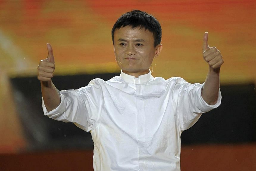 Alibaba founder Jack Ma gestures during a celebration of the 10th anniversary of Taobao Marketplace, China's largest consumer-focused e-commerce website, in Hangzhou on Friday, May 10, 2013. Activists have called on the founder of Chinese e-commerce