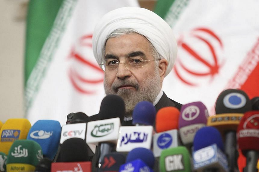 "Iranian President-elect Hassan Rohani (above) said on Wednesday, July 17, 2013, it was laughable for Israeli Prime Minister Benjamin Netanyahu to say that Teheran was getting close to Israel's ""red line"" over its nuclear programme, and derided the Je"