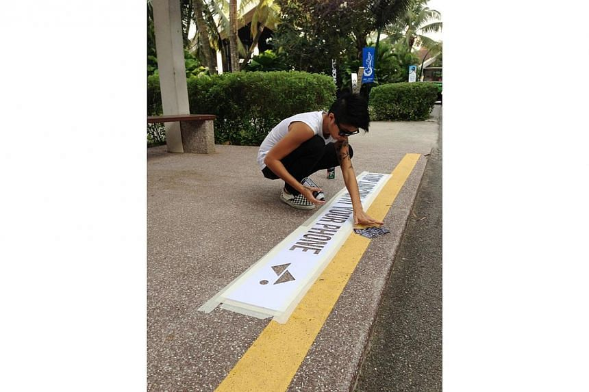 'Sticker Lady' Samantha Lo will be bringing her unique brand of street graffiti to Sentosa from August. -- PHOTO: SENTOSA LEISURE GROUP
