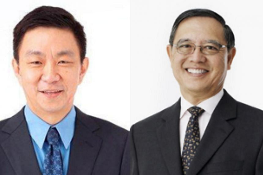 Keppel Corporation chief financial officer Mr Loh Chin Hua (left) has been named as the next chief executive officer (CEO) of the conglomerate. He will succeed Mr Choo Chiau Beng (right), 65, as CEO on Jan 1. -- FILE PHOTOS: KEPPEL CORP