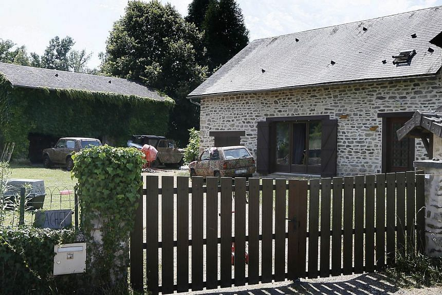 "The house of Norwegian far-right metal musician Kristian Vikernes is seen in the hamlet of Las Fleyras, near the village of Salon La Tour outside the central French city of Limoges. Vikernes, who was arrested in France over fears of a ""major ter"
