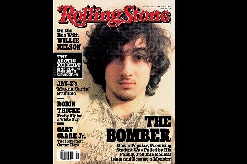 This image courtesy of Rolling Stone magazine shows the August 1, 2013 cover of Rolling Stone. The magazine's decision to put Dzhokhar Tsarnaev, the accused Boston Marathon bomber, on the cover of its latest issue has ignited a firestorm of outrage o