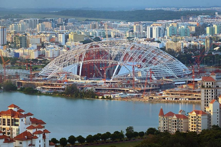 The new Singapore Sports Hub under construction at Kallang on July 9, 2013. Singapore will host the World Junior Swimming Championships in 2015, after being awarded the hosting rights by Fina, the sport's international governing body. The biennial ev