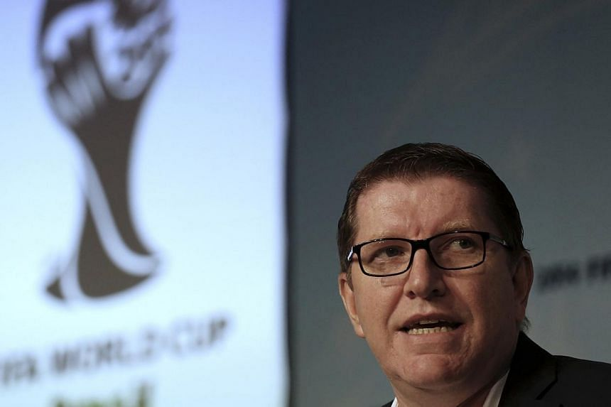 Fifa Marketing Director Thierry Weil attends a news conference in Sao Paulo, announcing the ticketing strategy for the 2014 World Cup soccer tournament on July 19, 2013.World's football governing body announced that it will begin selling ticket