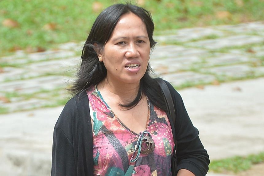 Ms Clarita Abanes' cousin, Ms Lolita Calera (above), also a maid, was at the inquiry yesterday.  Father Peter Tan, when questioned by State Counsel Kumaresan Gohulabalan, said he had tried to get contractors for the lift's maintenance, but several tu