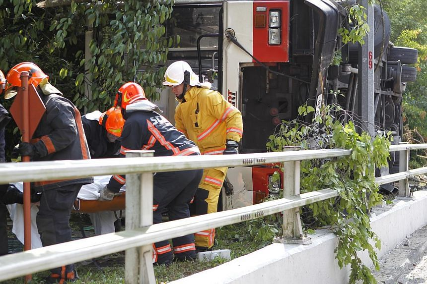 The driver behind the wheel of the SMRT bus which crashed along Dairy Farm Road on Sunday morning had a clean driving record, his company confirmed. One man, understood to be a 19-year-old, was pronounced dead on the scene after being trapped in the
